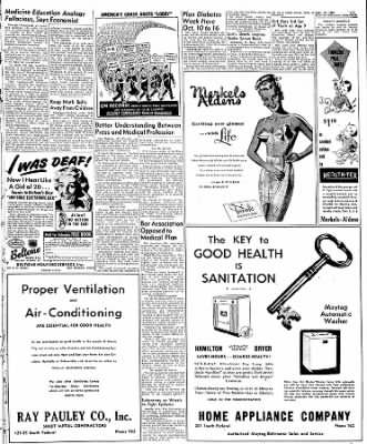 Globe-Gazette from Mason City, Iowa on October 1, 1949 · Page 9