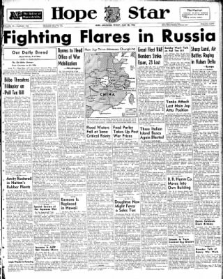 Hope Star from Hope, Arkansas on May 28, 1943 · Page 1