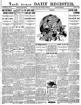 Iola Daily Register And Evening News from Iola, Kansas on January 1, 1912 · Page 1