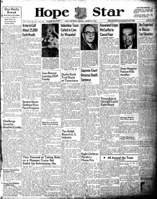 Hope Star from Hope, Arkansas on March 15, 1954 · Page 1