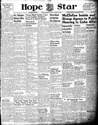 Hope Star from Hope, Arkansas on March 16, 1954 · Page 1