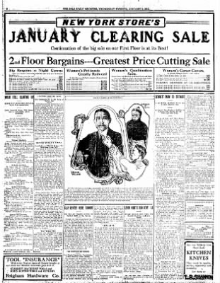 Iola Daily Register And Evening News from Iola, Kansas on January 3, 1912 · Page 6