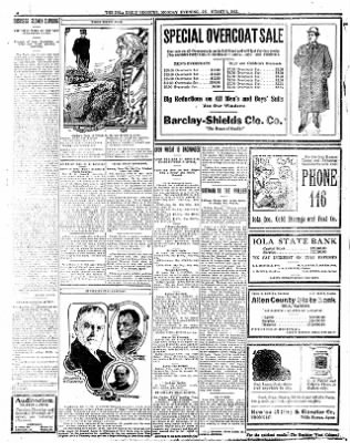 Iola Daily Register And Evening News from Iola, Kansas on January 8, 1912 · Page 6