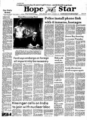 Hope Star from Hope, Arkansas on October 28, 1974 · Page 1