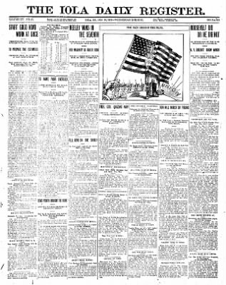 Iola Daily Register And Evening News from Iola, Kansas on January 10, 1912 · Page 1