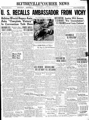 The Courier News from Blytheville, Arkansas on April 17, 1942 · Page 1