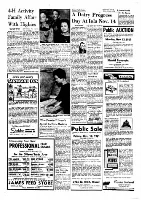 The Ottawa Herald from Ottawa, Kansas on November 10, 1961 · Page 7