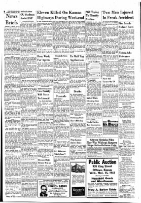 The Ottawa Herald from Ottawa, Kansas on November 13, 1961 · Page 8