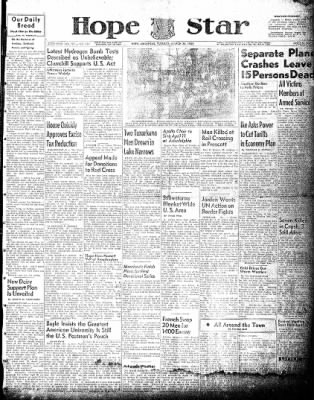 Hope Star from Hope, Arkansas on March 30, 1954 · Page 1