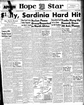 Hope Star from Hope, Arkansas on June 19, 1943 · Page 1