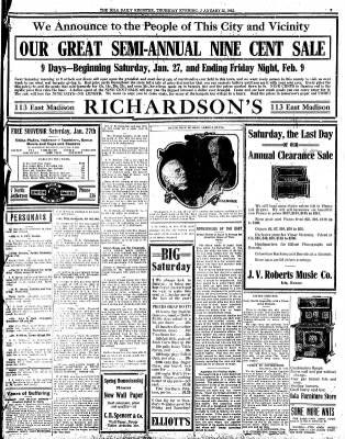 Iola Daily Register And Evening News from Iola, Kansas on January 25, 1912 · Page 4