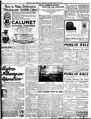 Iola Daily Register And Evening News from Iola, Kansas on January 25, 1912 · Page 7