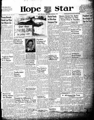 Hope Star from Hope, Arkansas on March 31, 1954 · Page 1