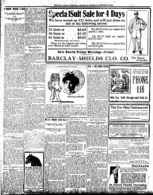 Iola Daily Register And Evening News from Iola, Kansas on January 25, 1912 · Page 9