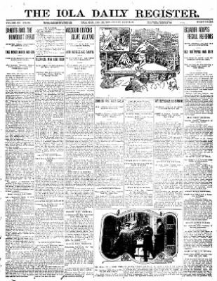Iola Daily Register And Evening News from Iola, Kansas on January 26, 1912 · Page 1