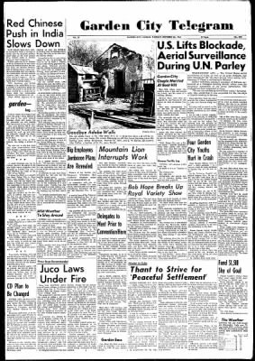 Garden City Telegram from Garden City, Kansas on October 30, 1962 · Page 1