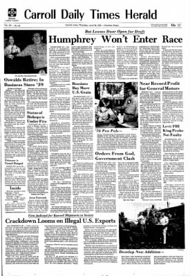 Carrol Daily Times Herald from Carroll, Iowa on April 29, 1976 · Page 1
