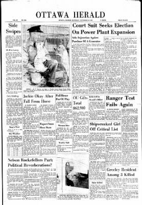 The Ottawa Herald from Ottawa, Kansas on November 18, 1961 · Page 1