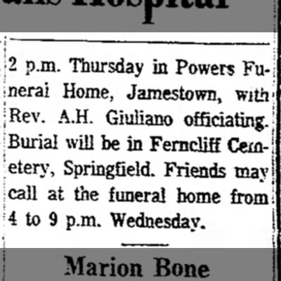 Mary M (Sheley) Sharette Leffel newspaper obituary 2 -