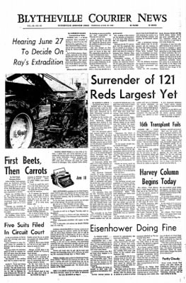 The Courier News from Blytheville, Arkansas on June 18, 1968 · Page 1