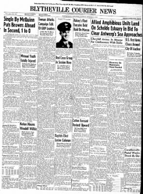 The Courier News from Blytheville, Arkansas on October 9, 1944 · Page 1