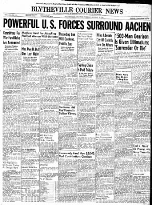 The Courier News from Blytheville, Arkansas on October 10, 1944 · Page 1