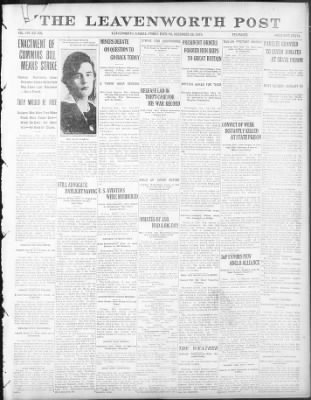 Leavenworth Post from Leavenworth, Kansas on December 26, 1919 · Page 1