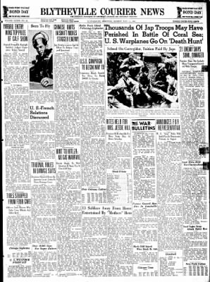 The Courier News from Blytheville, Arkansas on May 11, 1942 · Page 1