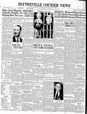 The Courier News from Blytheville, Arkansas on June 12, 1939 · Page 1