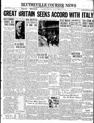The Courier News from Blytheville, Arkansas on February 21, 1938 · Page 1
