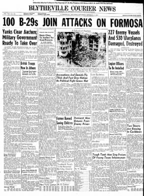 The Courier News from Blytheville, Arkansas on October 14, 1944 · Page 1