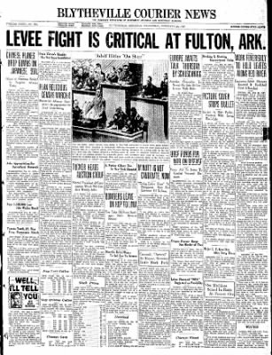 The Courier News from Blytheville, Arkansas on February 23, 1938 · Page 1