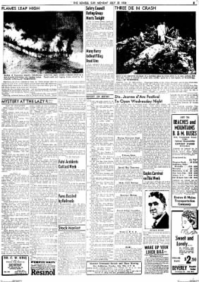 The Lowell Sun from Lowell, Massachusetts on July 25, 1938 · Page 9