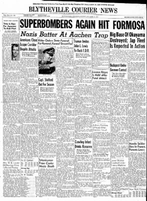 The Courier News from Blytheville, Arkansas on October 16, 1944 · Page 1