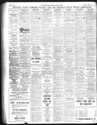Poughkeepsie Journal From Poughkeepsie New York On April 23 1944