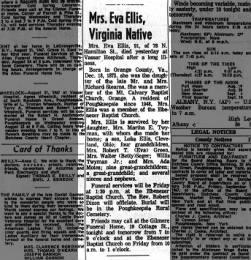Eva Ellis Obituary