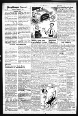 Poughkeepsie Journal from Poughkeepsie, New York on March 22, 1961 · Page 6