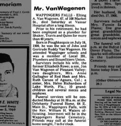 Elting A. VanWagenen Obituary