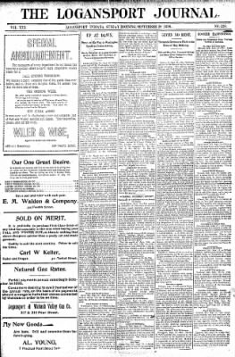Logansport Pharos-Tribune from Logansport, Indiana on September 20, 1896 · Page 1