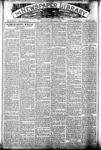 Sample The Newspaper Library front page