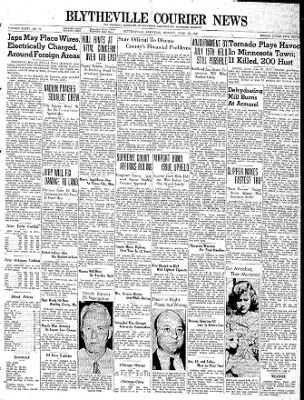 The Courier News from Blytheville, Arkansas on June 19, 1939 · Page 1