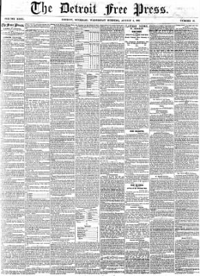 Detroit Free Press from Detroit, Michigan on August 3, 1859