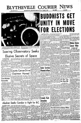 The Courier News from Blytheville, Arkansas on April 9, 1966 · Page 1