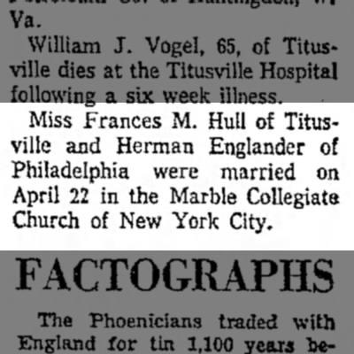 Titusville Herald, April 25, 1944 -