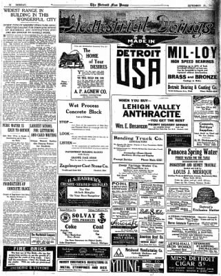 Detroit Free Press from Detroit, Michigan on September 25, 1916 · Page 14