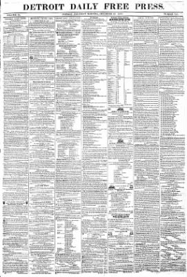 Detroit Free Press From Detroit Michigan On December 30 1852 Page 1