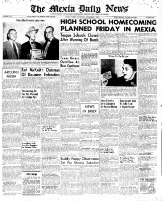 The Mexia Daily News from Mexia, Texas on November 7, 1957 · Page 1