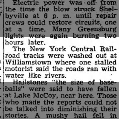 Williamstown tracks washed out GDN 14 July 1947 -