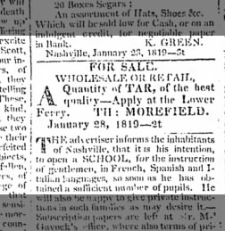 Nashville Whig from Nashville, Tennessee on January 23, 1819