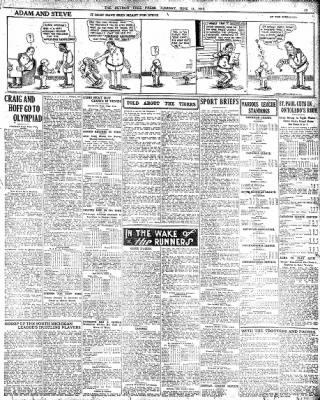 Detroit Free Press From Detroit Michigan On June 11 1912